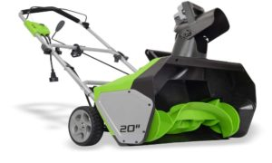 Greenworks 20 Inch 12 Amp Corded Snow Thrower 26032 Review