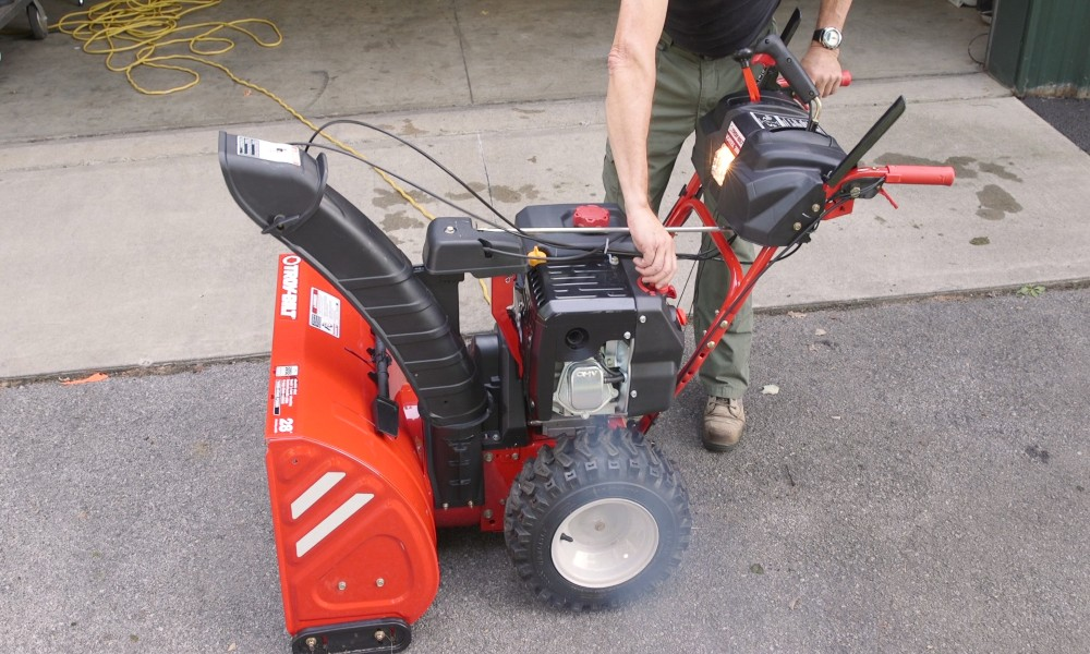 two-stage gas snow blower